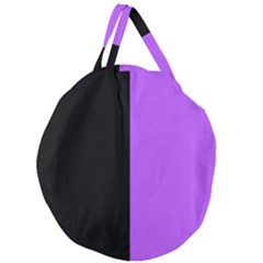 Black Purple Giant Round Zipper Tote by FEMCreations