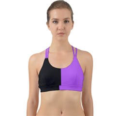 Black Purple Back Web Sports Bra by TimelessFashion