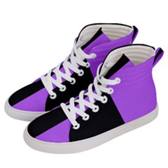 Black Purple Men s Hi Top Skate Sneakers by TimelessFashion
