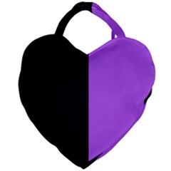 Black Purple Giant Heart Shaped Tote by FEMCreations