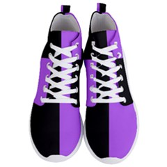 Black Purple Men s Lightweight High Top Sneakers by TimelessFashion
