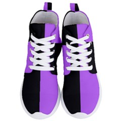Black Purple Women s Lightweight High Top Sneakers by TimelessFashion