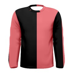 Black Red Men s Long Sleeve Tee by TimelessFashion