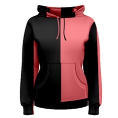Black Red Women s Pullover Hoodie by TimelessFashion