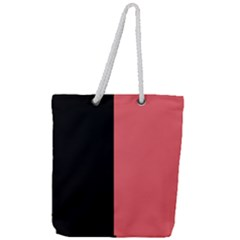 Black Red Full Print Rope Handle Tote (large) by TimelessFashion