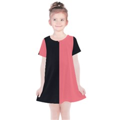 Black Red Kids  Simple Cotton Dress