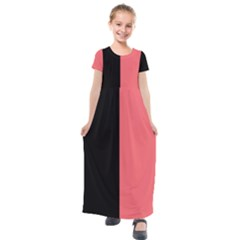 Black Red Kids  Short Sleeve Maxi Dress by TimelessFashion