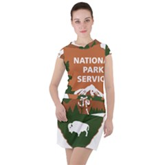 U S  National Park Service Arrowhead Insignia Drawstring Hooded Dress