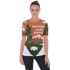 U S  National Park Service Arrowhead Insignia Shoulder Cut Out Short Sleeve Top