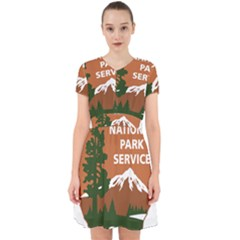 U S  National Park Service Arrowhead Insignia Adorable In Chiffon Dress