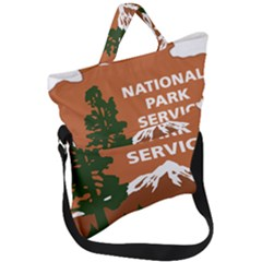 U S  National Park Service Arrowhead Insignia Fold Over Handle Tote Bag by abbeyz71