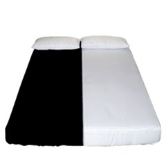 Black White Fitted Sheet (king Size) by FEMCreations