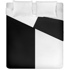 Black White Duvet Cover Double Side (california King Size)