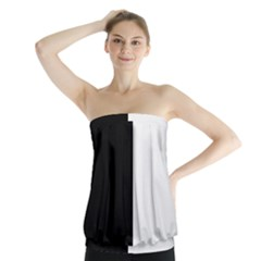 Black White Strapless Top