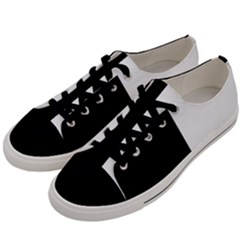 Black White Men s Low Top Canvas Sneakers by TimelessFashion