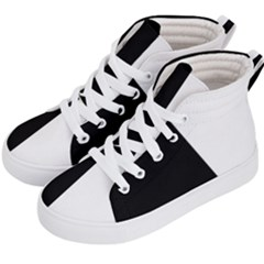 Black White Kids  Hi Top Skate Sneakers by TimelessFashion