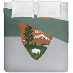 Guidon Of U S  National Park Service Duvet Cover Double Side (king Size) by abbeyz71