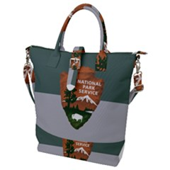Guidon Of U S  National Park Service Buckle Top Tote Bag