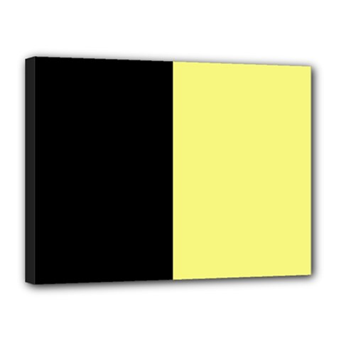 Black Yellow Canvas 16  X 12  (stretched) by TimelessDesigns