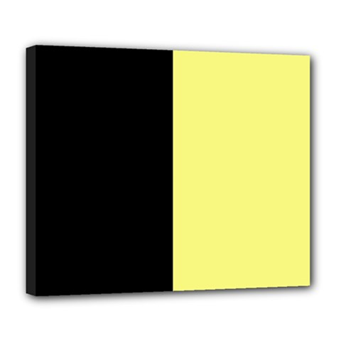 Black Yellow Deluxe Canvas 24  X 20  (stretched) by TimelessDesigns
