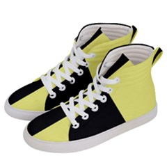 Black Yellow Women s Hi Top Skate Sneakers by TimelessFashion