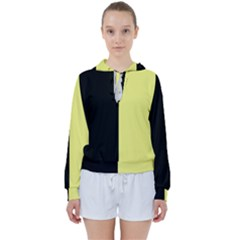 Black Yellow Women s Tie Up Sweat by TimelessFashion