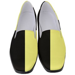 Black Yellow Women s Classic Loafer Heels by FEMCreations