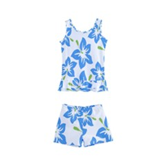 Blue Blossom Kids  Boyleg Swimsuit by TimelessFashion