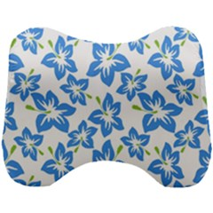 Blue Blossom Head Support Cushion
