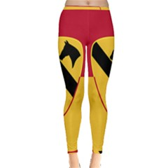 Flag Of United States Army 1st Cavalry Division Inside Out Leggings