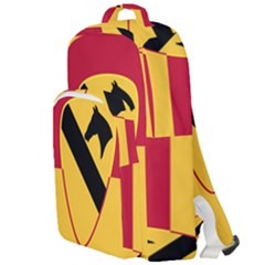 Flag Of United States Army 1st Cavalry Division Double Compartment Backpack
