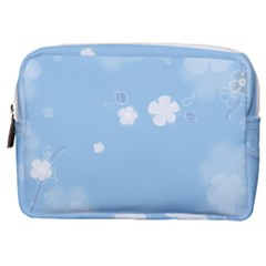 Blue Garden Make Up Pouch (medium)