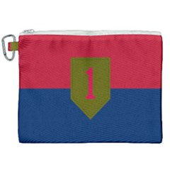 United States Army First Infantry Division Flag Canvas Cosmetic Bag (xxl) by abbeyz71