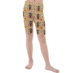 Sankta Lucia With Love And Candles In The Silent Night Kids  Mid Length Swim Shorts