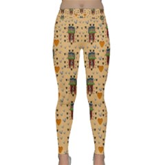 Sankta Lucia With Love And Candles In The Silent Night Classic Yoga Leggings by pepitasart