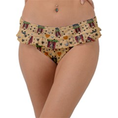 Sankta Lucia With Love And Candles In The Silent Night Frill Bikini Bottom