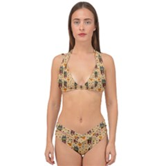 Sankta Lucia With Love And Candles In The Silent Night Double Strap Halter Bikini Set by pepitasart