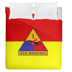 Flag Of U S  Army 1st Armored Division Duvet Cover Double Side (queen Size)