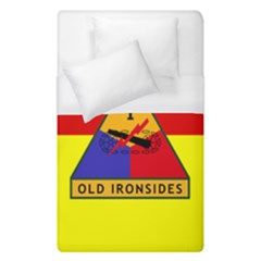 Flag Of U S  Army 1st Armored Division Duvet Cover (single Size)