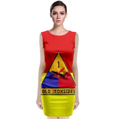 Flag Of U S  Army 1st Armored Division Classic Sleeveless Midi Dress
