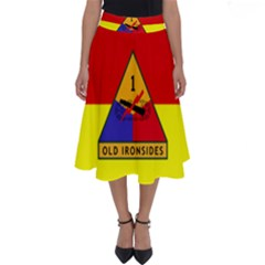 Flag Of U S  Army 1st Armored Division Perfect Length Midi Skirt