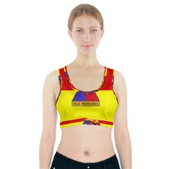 Flag Of U S  Army 1st Armored Division Sports Bra With Pocket