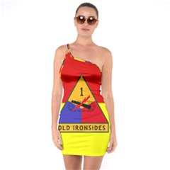 Flag Of U S  Army 1st Armored Division One Soulder Bodycon Dress by abbeyz71