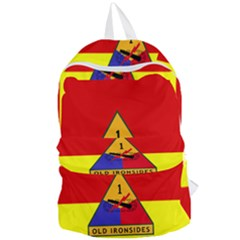 Flag Of U S  Army 1st Armored Division Foldable Lightweight Backpack