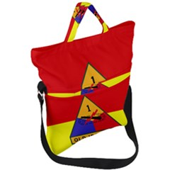Flag Of U S  Army 1st Armored Division Fold Over Handle Tote Bag