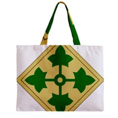 U S  Army 4th Infantry Division Shoulder Sleeve Insignia (1918¨c2015) Zipper Mini Tote Bag