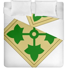 U S  Army 4th Infantry Division Shoulder Sleeve Insignia (1918¨c2015) Duvet Cover Double Side (king Size)