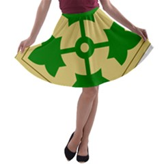 U S  Army 4th Infantry Division Shoulder Sleeve Insignia (1918¨c2015) A Line Skater Skirt