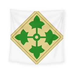 U S  Army 4th Infantry Division Shoulder Sleeve Insignia (1918¨c2015) Square Tapestry (small)