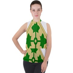 U S  Army 4th Infantry Division Shoulder Sleeve Insignia (1918¨c2015) Mock Neck Chiffon Sleeveless Top